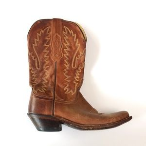 •new listing• Old West brown cowboy boots